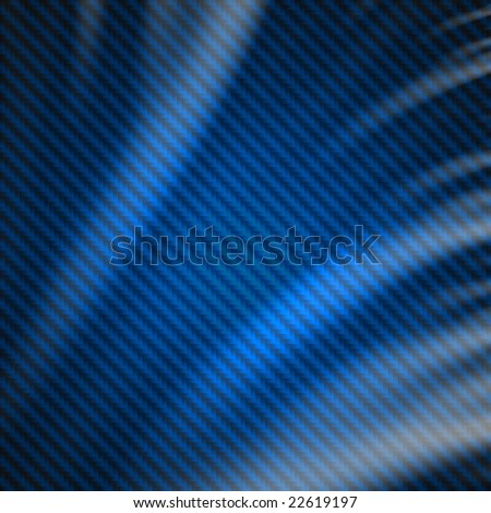 Blue carbon fiber fabric weave silk material background. - stock photo
