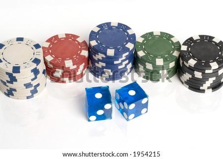 Blue casino dice