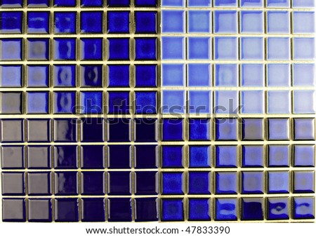 blue ceramic mosaic tiles