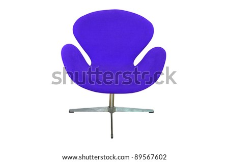 blue chair isolated