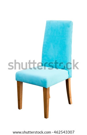 Blue chair isolated on white background. This has a clipping path. #462543307