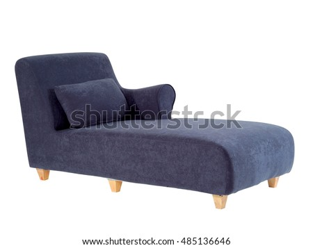 Blue chaise lounge isolated on white background with clipping path. Foto stock ©