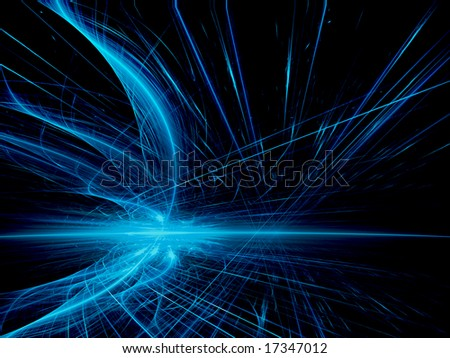 blue chaos - stock photo
