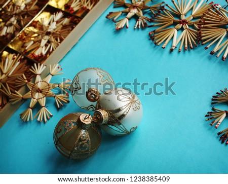 Blue Christmas background #1238385409