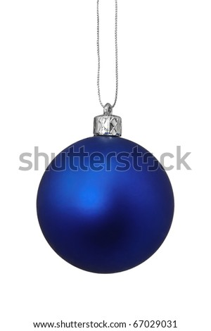 Blue Christmas toy, isolated on white background