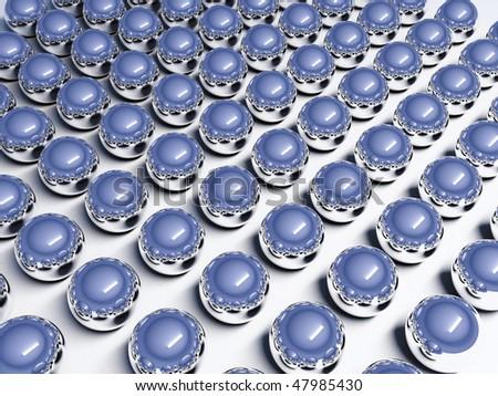 Blue chrome spheres