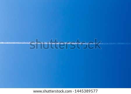 Blue clear sky for living and peaceful development #1445389577