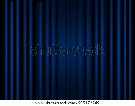 Blue closed curtain with light spots, background - Shutterstock ID 595172249