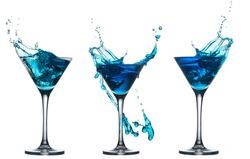 blue cocktail splash set