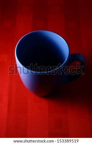 Blue Coffee Mug A photo of a blue coffee mug