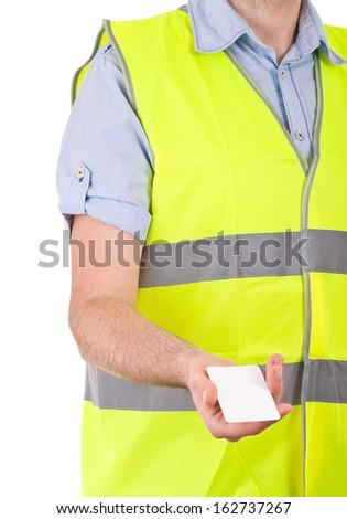 Blue collar worker.