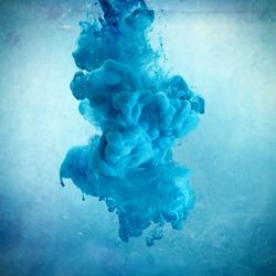 Blue color cloud square cut