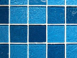 Blue color mosaic tiles for bathroom and swimming pool decoration, beautiful tiles for home decor