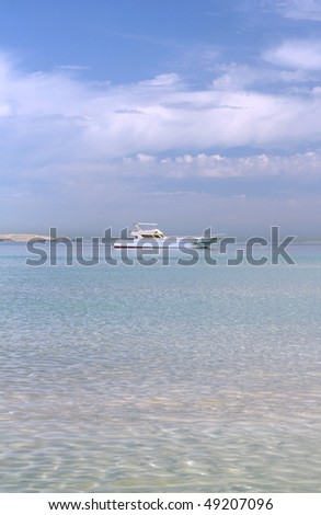 blue color of Red sea Egypt - stock photo