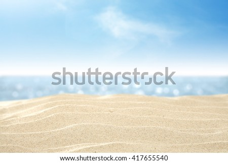 blue color of sea and sand and free place  - Shutterstock ID 417655540