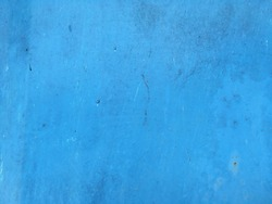 Blue color paint metal surface texture background