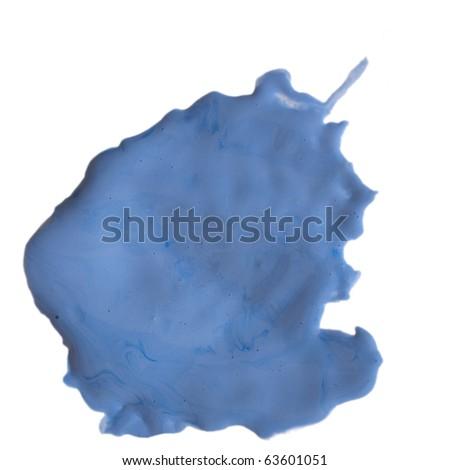 blue color splash isolated on white