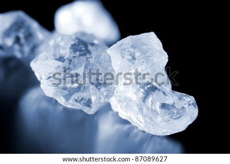 blue colored glass crystals, See my portfolio for more