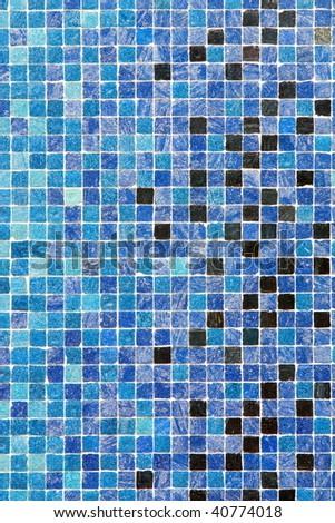 Blue colored mosaic squares