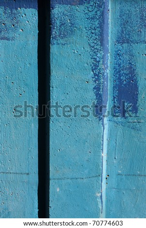 Blue colored wall with texture