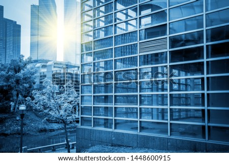 Blue commercial building building building glass
