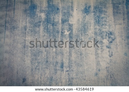 blue concrete wall grunge texture with cracks