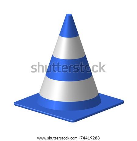 Blue Cone - stock photo