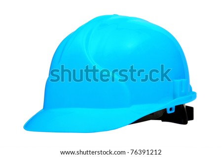Blue Construction Helmet