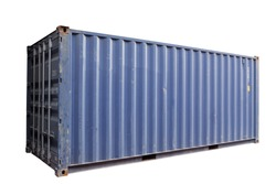 Blue container Cut white background In order to be easy to use