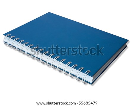 Blue Cover Close Note Book Perspective
