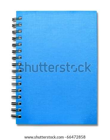Blue Cover Note Book - stock photo