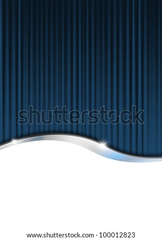 Blue Cover Template / Blue, black and metal business background with reflections