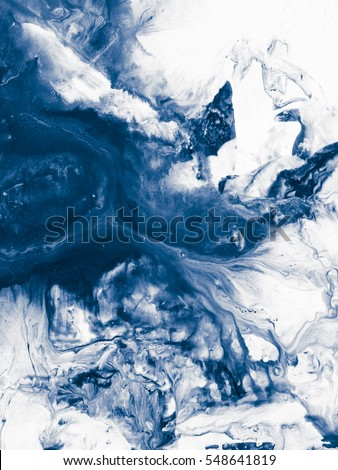 Blue creative abstract hand painted background, wallpaper, texture, acrylic painting on canvas. Modern art. Contemporary art.