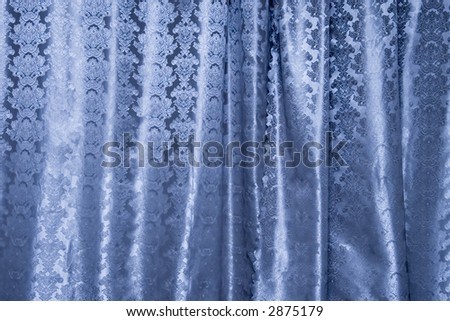Blue curtain background. Specialy with blue tint.