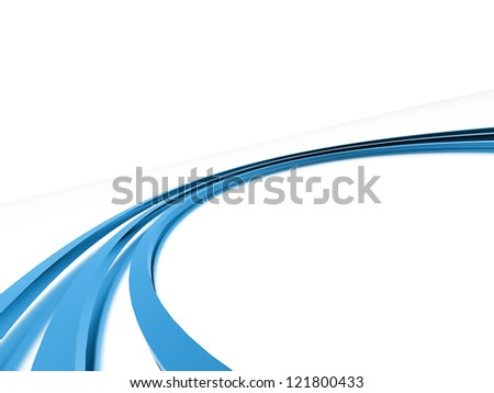 Blue curve on white background