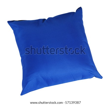 Blue cushion. Isolated