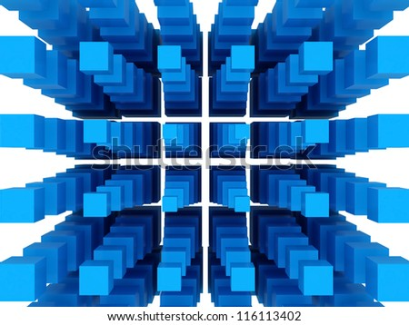 Blue 3D Blocks
