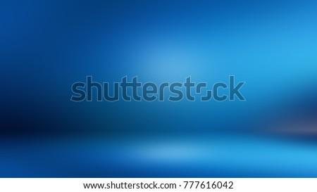 Blue 3D room. Background