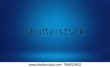 Blue 3D room. Background