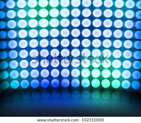 Blue Dance Disco Lights Stage Dance Stage Backgrounds