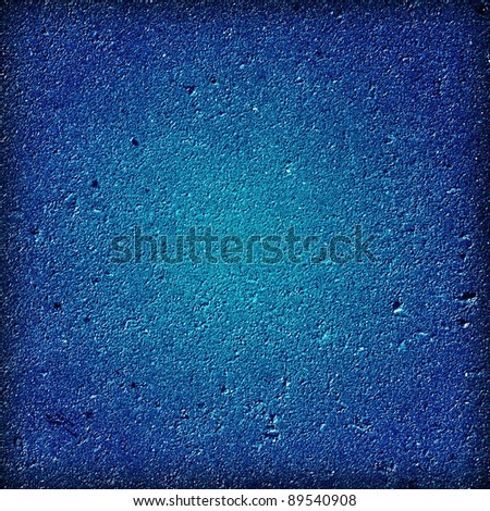 Blue dark wall background or texture