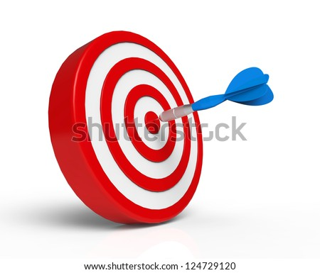 Blue Dart on Red Target