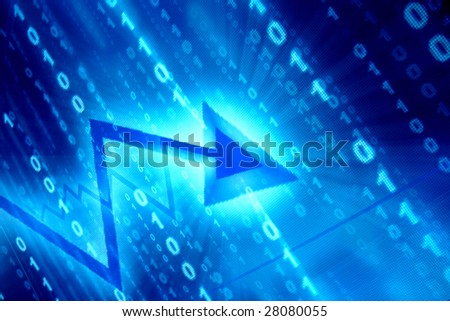 blue data space abstract financial background