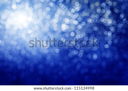 Blue defocused lights. Winter background