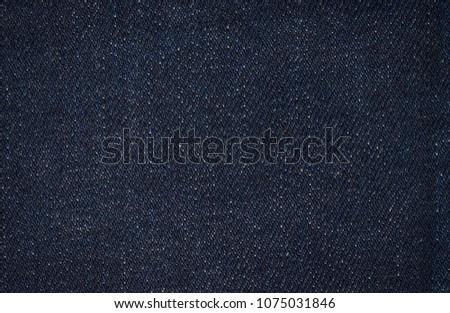 Blue denim fabric. Texture of fabric