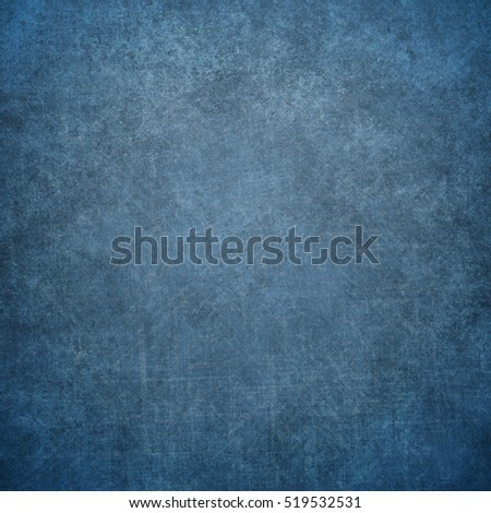 Blue designed grunge texture. Vintage background with space for text or image #519532531