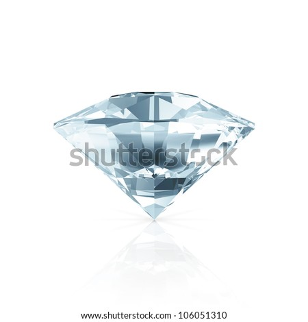 Blue Diamond isolated on white background