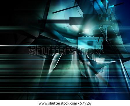 blue Digital Illustration