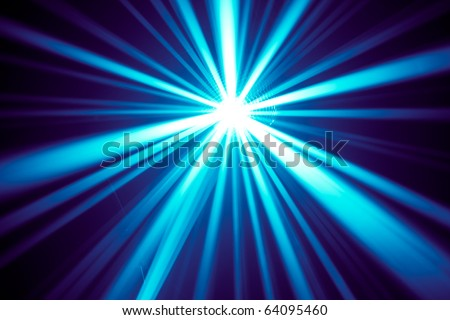 blue disco rays