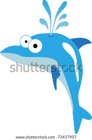 Blue dolphin illustration